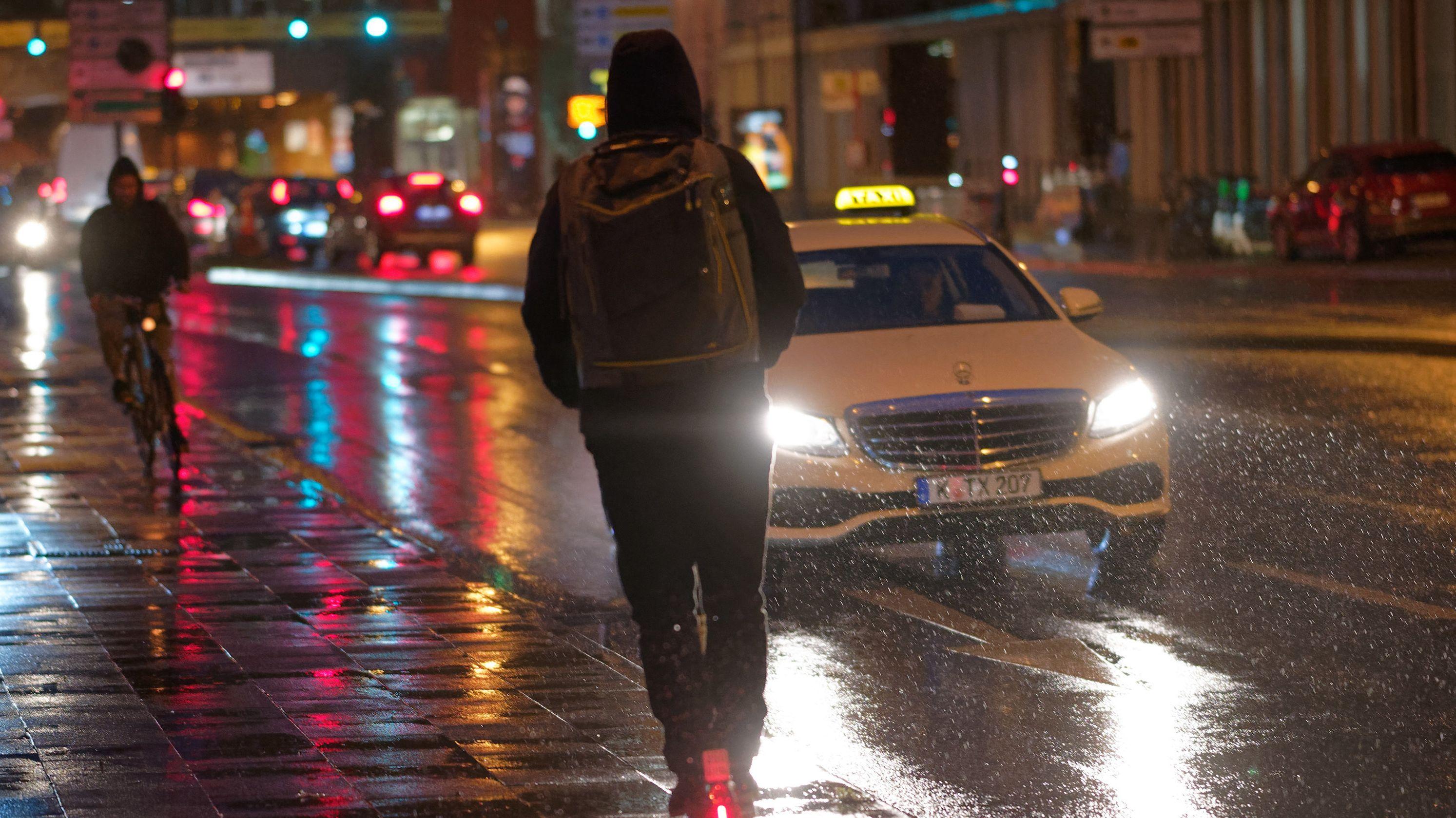 Taxifahren in der Nacht