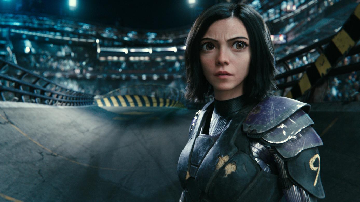 Ein weiblicher Cyborg aus der Zukunft: Alita: Battle Angel (Filmszene)