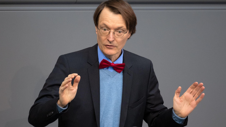 Karl Lauterbach bei einer Rede im Bundestag
