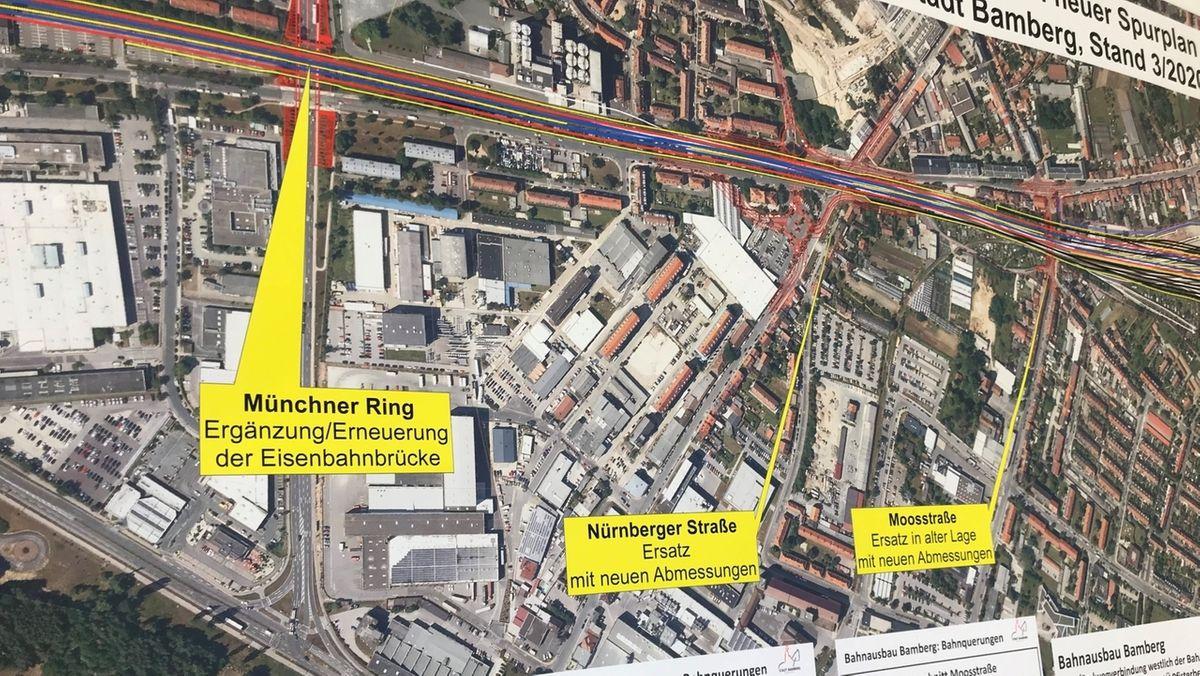 Bahnausbau: Mammutbaustelle durch Bamberg