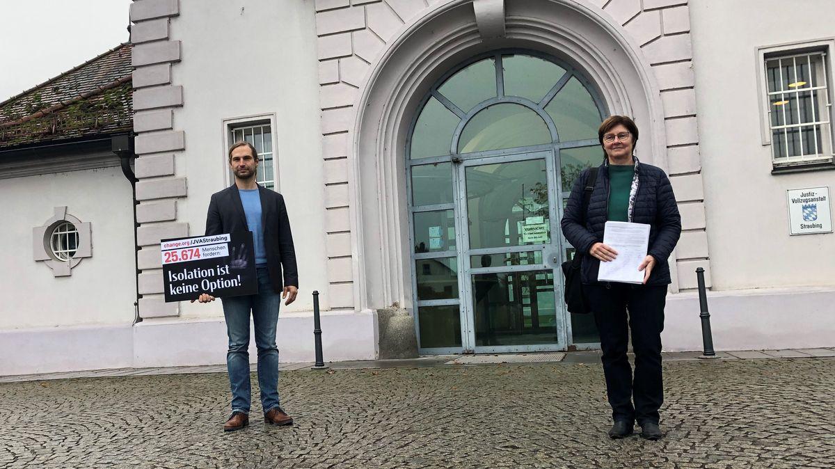 Die Grünen-Landtagsabgeordneten Toni Schuberl und Rosi Steinberger