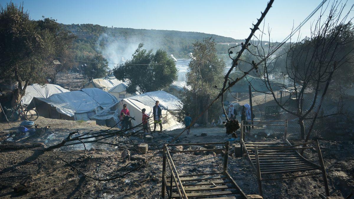 Das Flüchtlingslager Moria nach dem verheerenden Brand