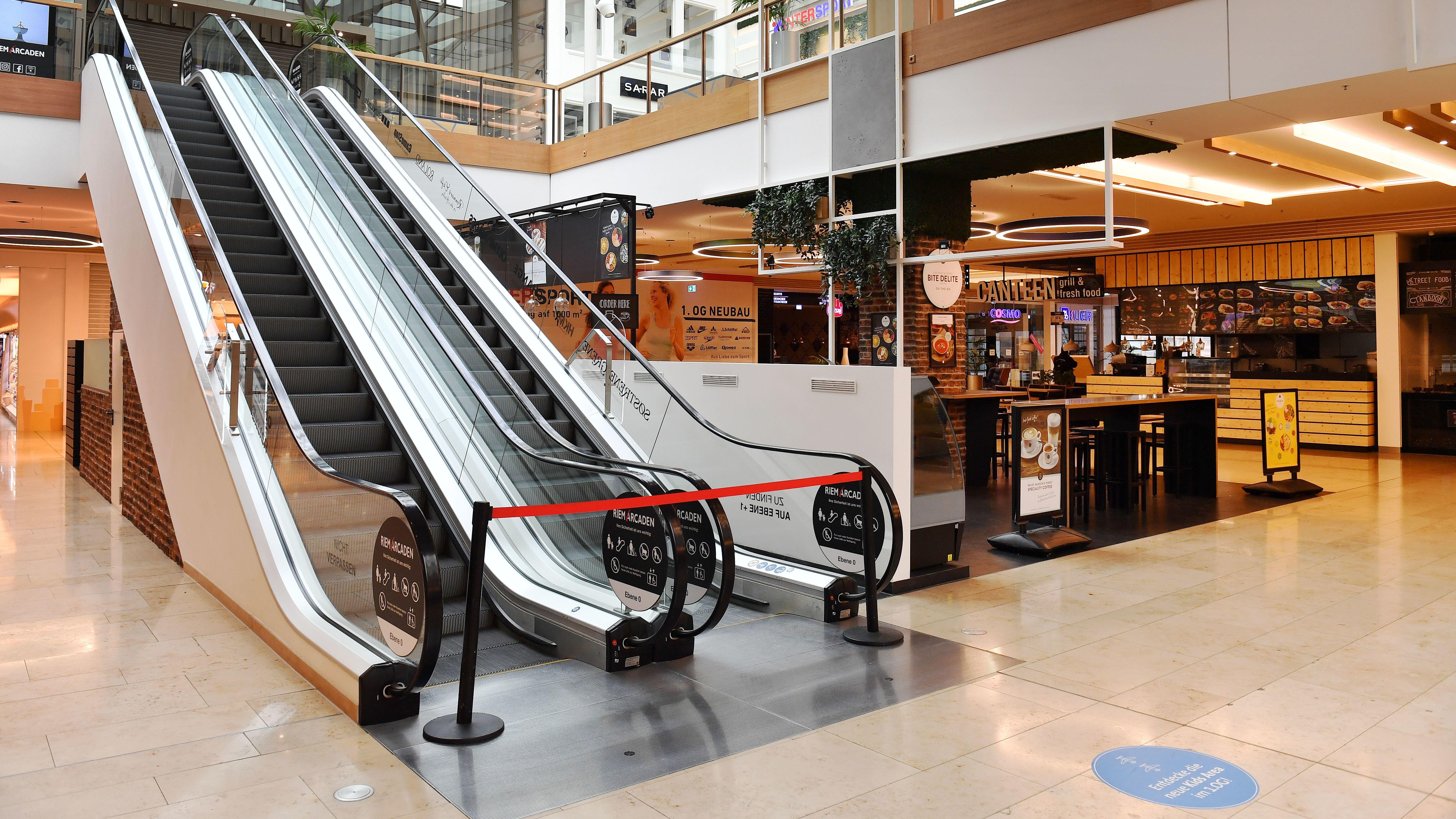 Leeres Einkaufszentrum Riem-Arcaden