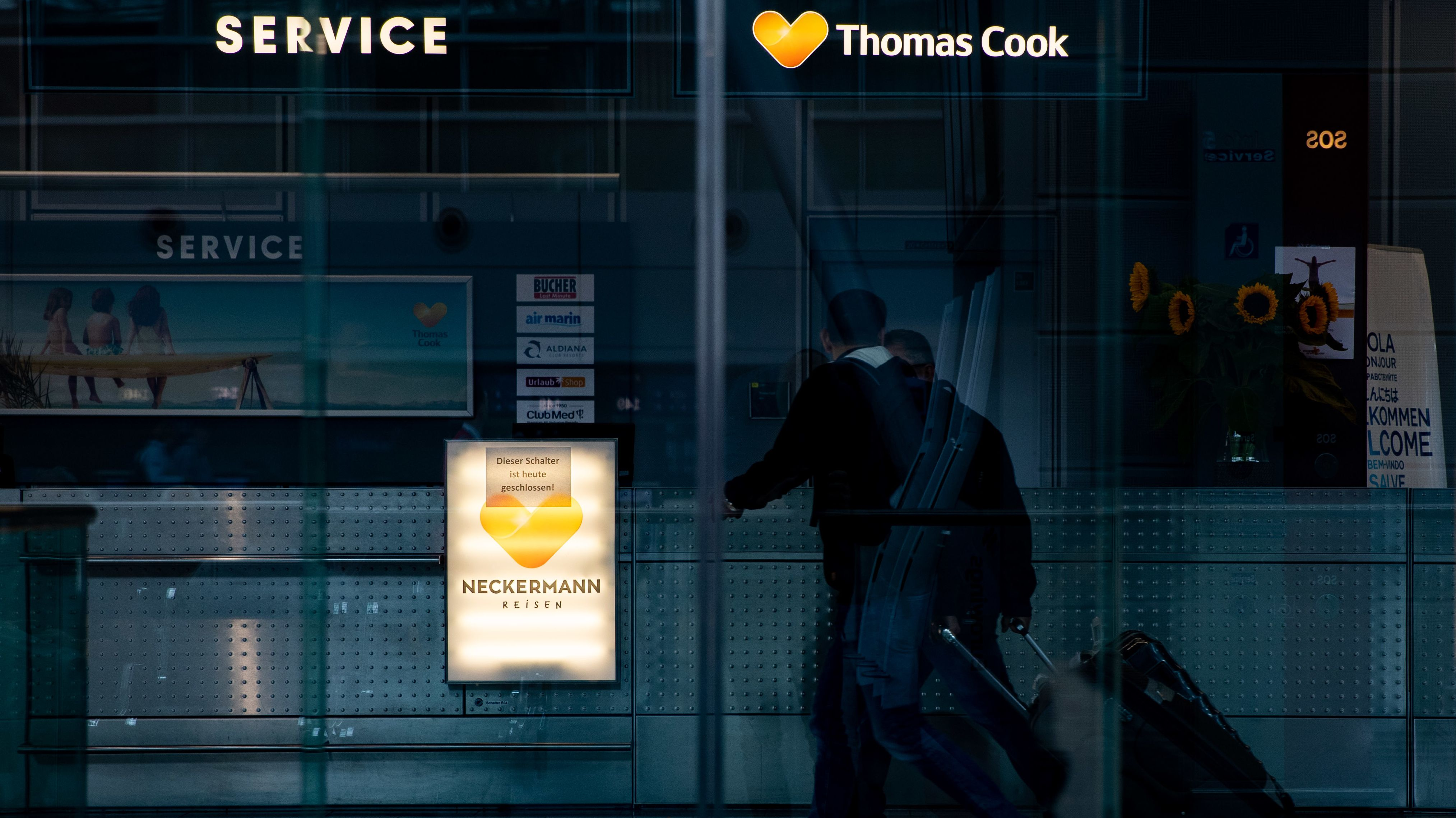 Geschlossener Thomas Cook Store