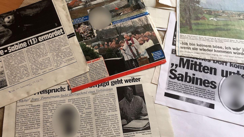 Zeitungsartikel zu dem Mordfall in Wiesenfeld 1993
