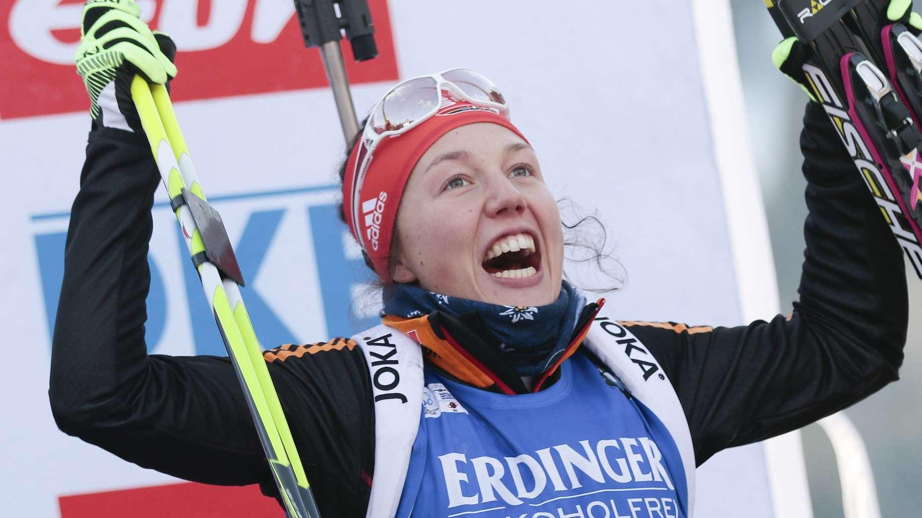 Laura Dahlmeier in Antholz 2015