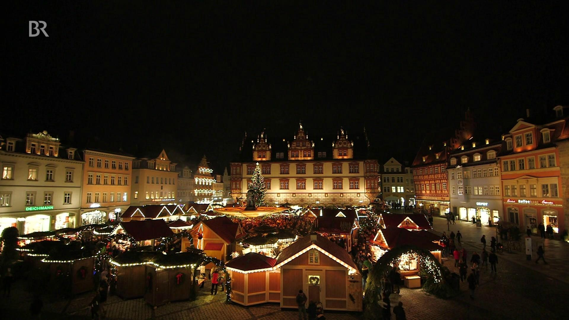 Suhl Weihnachtsmarkt.Der Coburger Weihnachtsmarkt Zwischen Bratwurst Und Glühwein