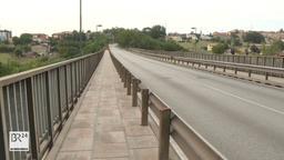 Blick auf Morandis San-Nicola-Brücke im süd-italienischen Benvenuto | Bild:BR