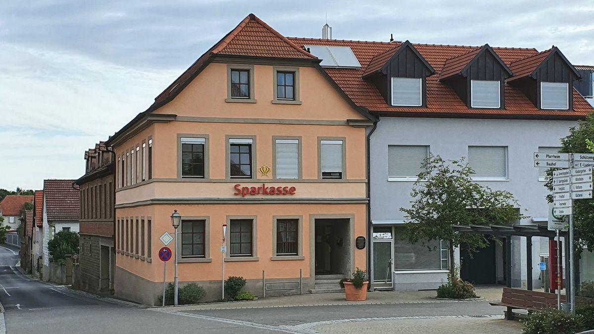 Die Sparkasse in Geldersheim