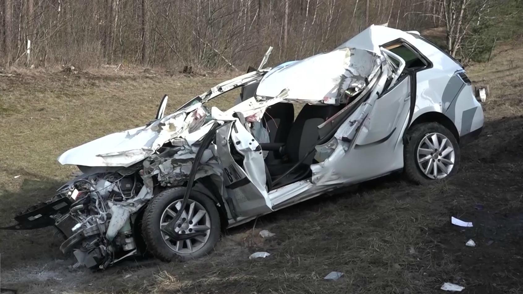 Der Unfallwagen an der A6