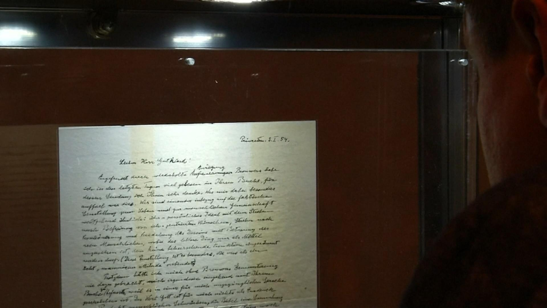Einsteins Brief von 1954, in dem er sein Verständnis von Gott und Religion beschreibt.