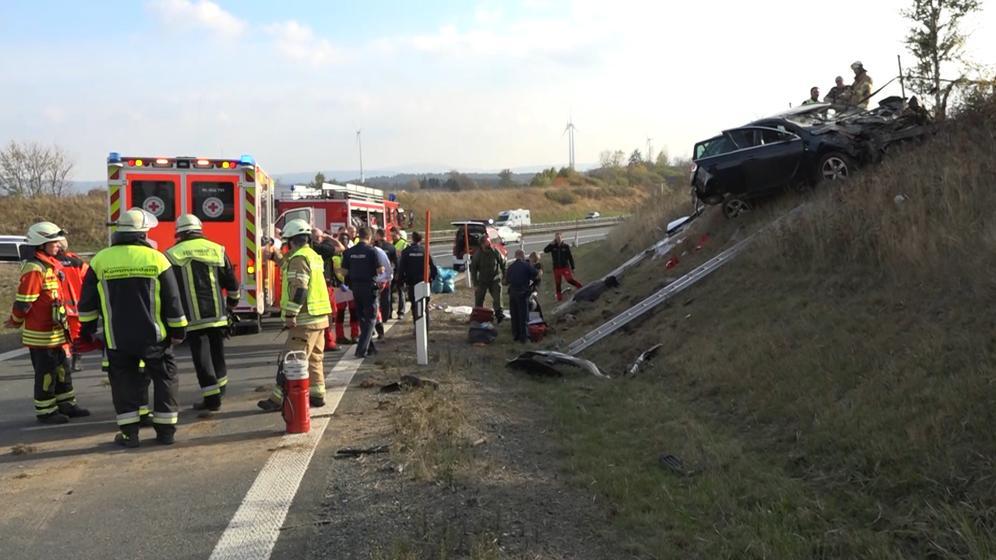 Der Unfall bei Münchberg | Bild:BR