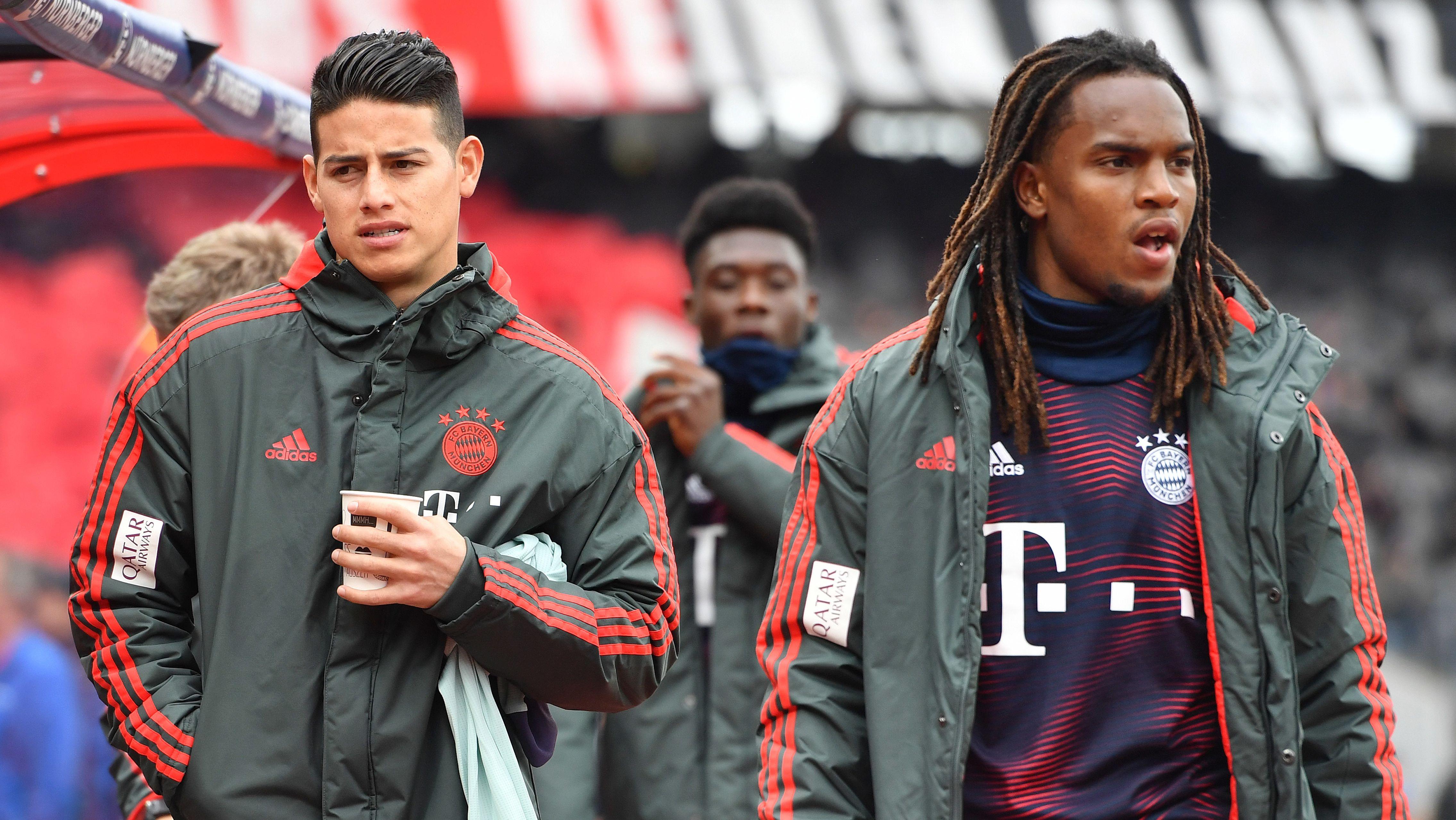 Unglücklich? James Rodriguez und Renato Sanches