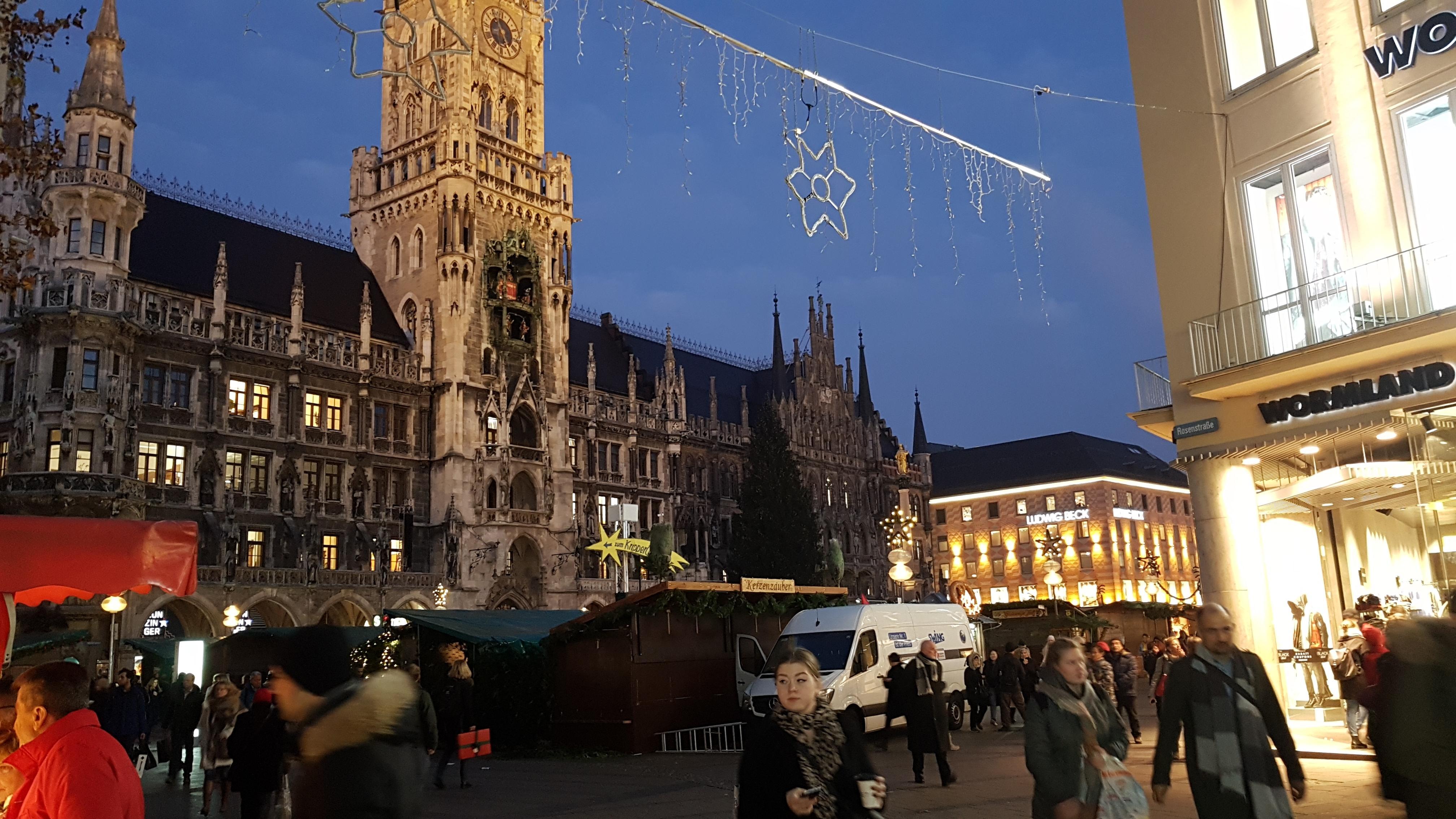 Weihnachtsbudenzauber in München.