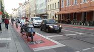 Die Fraunhoferstraße zwischen Altstadt und Isar in München: Parkplätze weg, Radlweg hin | Bild:BR/Christoph Dicke