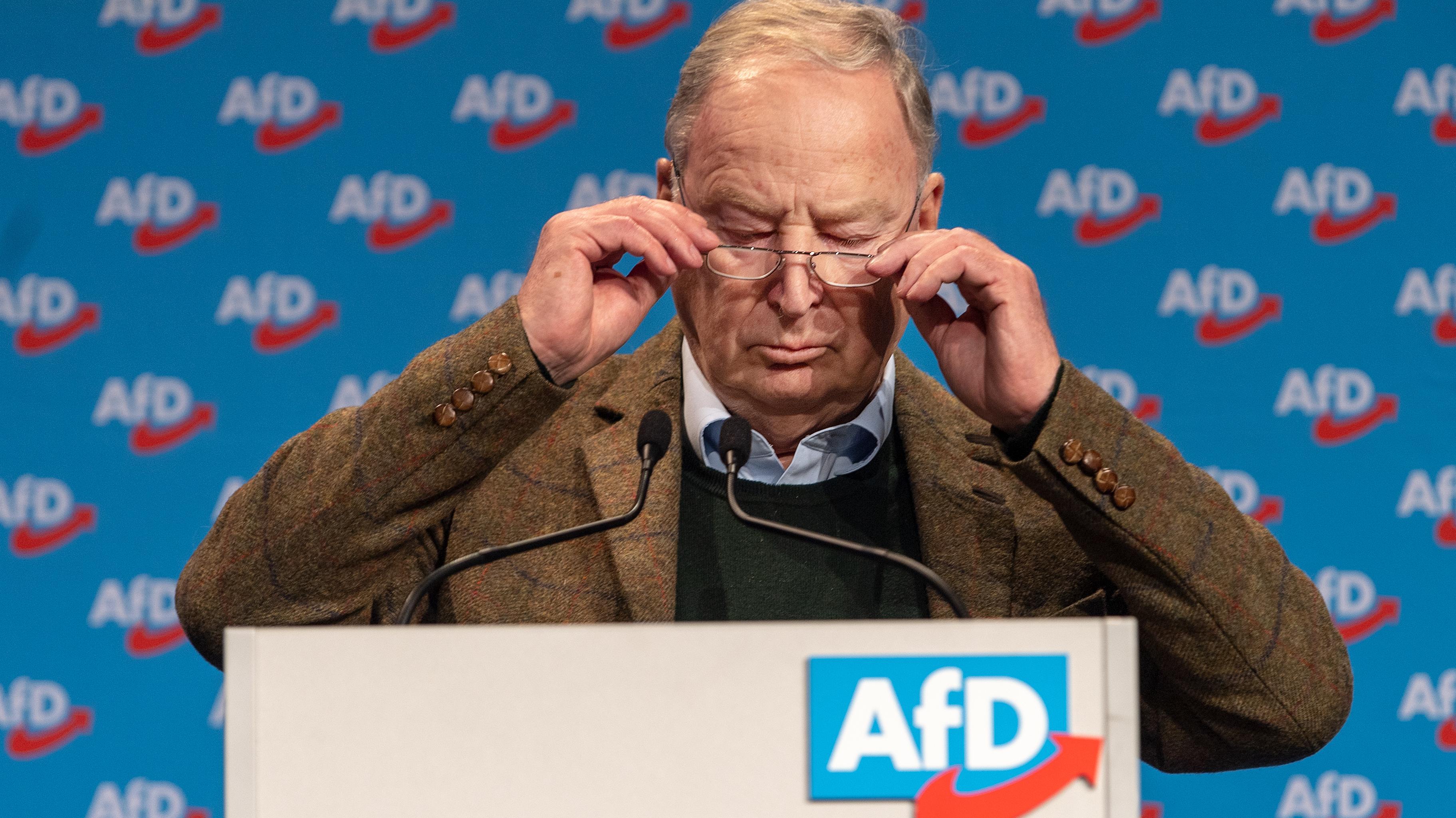 Alexander Gauland, Fraktionsvorsitzender der AfD im Bundestag und AfD Bundessprecher