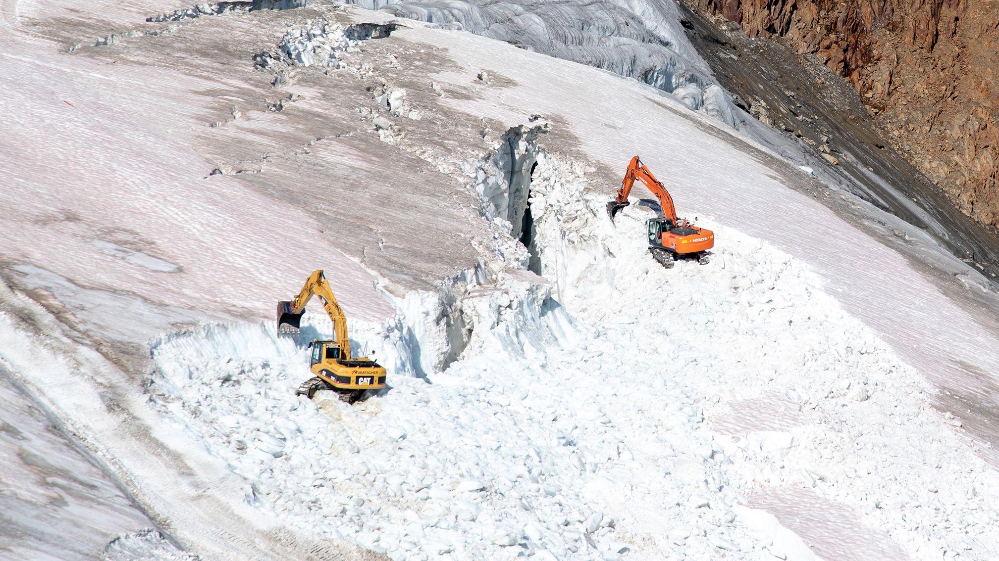 Bauarbeiten im Pitztaler Gletscher