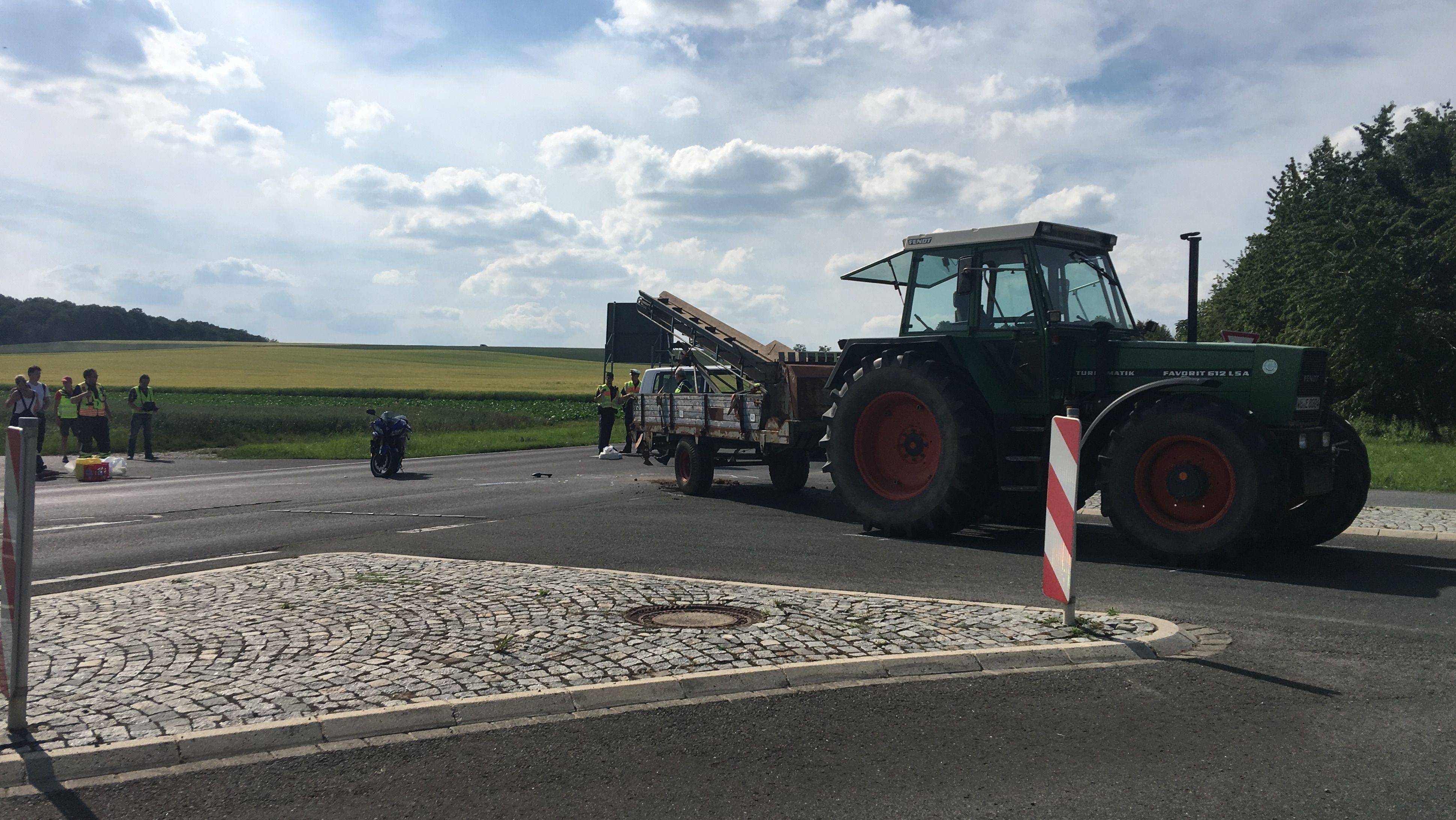 Tödlicher Motorradunfall auf der B19 bei Estenfeld