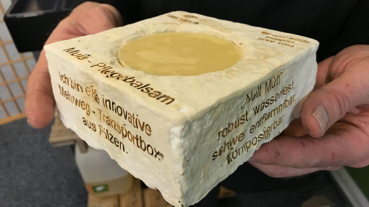 Transportbox aus Pilzsporen