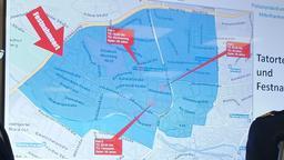 Eine Karte von Nürnberg mit den Tatorten und dem Fesnahmeort   Bild:BR/ Andreas Schuster