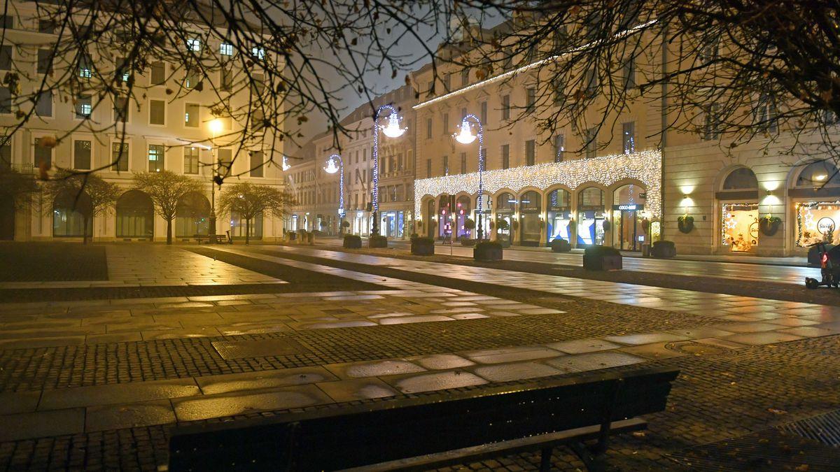 Der Wittelsbacher Platz in München, aufgenommen am 04.01.2021.