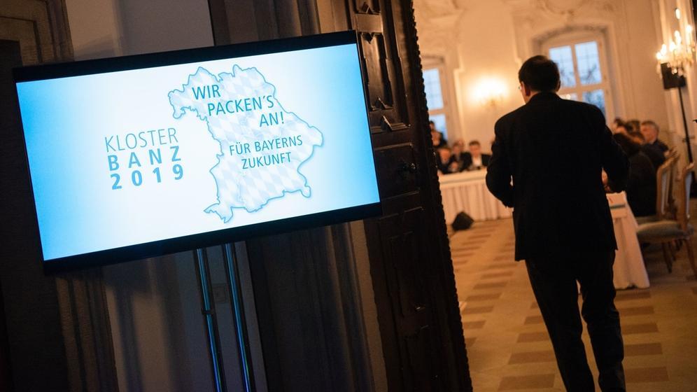 Vom 14.01. bis zum 17.01.2019 findet auf Kloster Banz die Winterklausur der CSU-Landtagsfraktion statt. | Bild:dpa-Bildfunk/Nicolas Armer