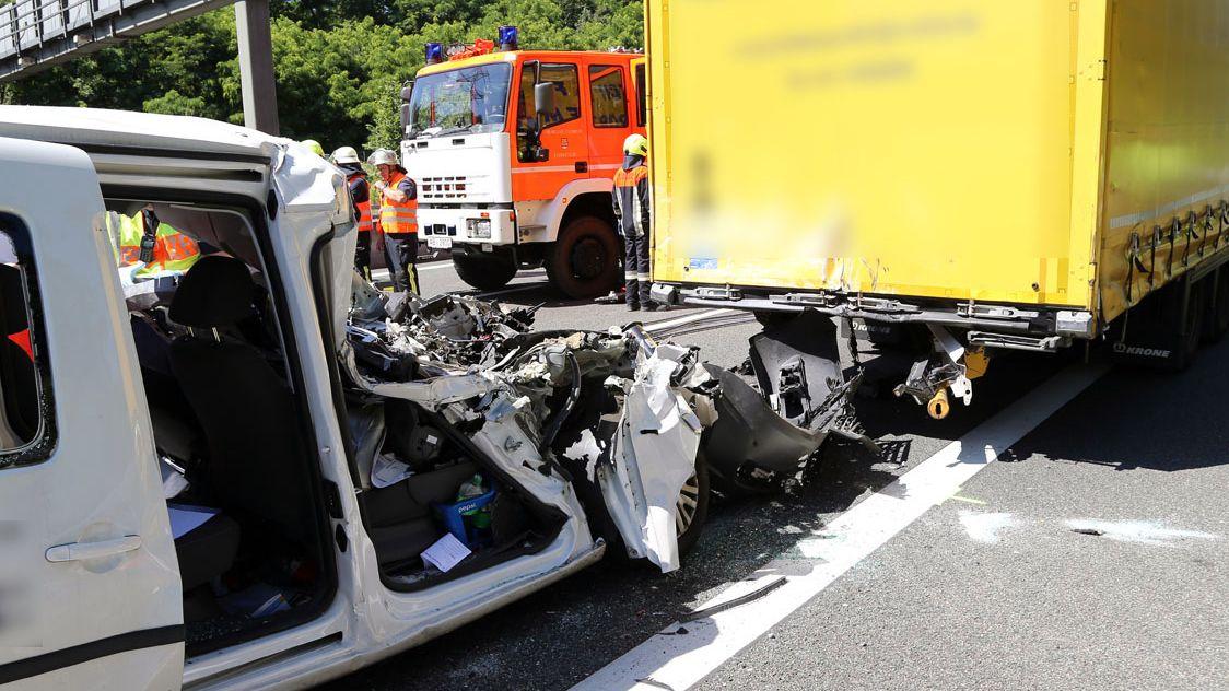 Unfall auf der A3 bei Aschaffenburg