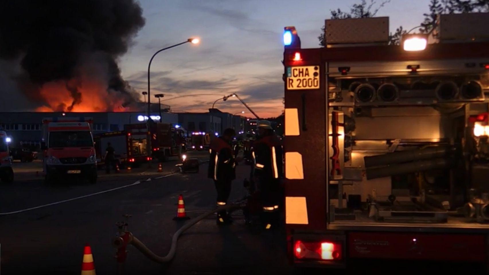 Großbrand in Roding