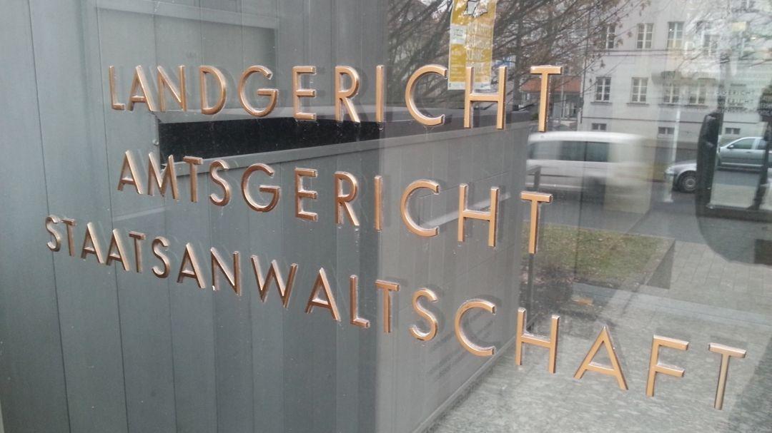 Eingang zum Landgericht Weiden