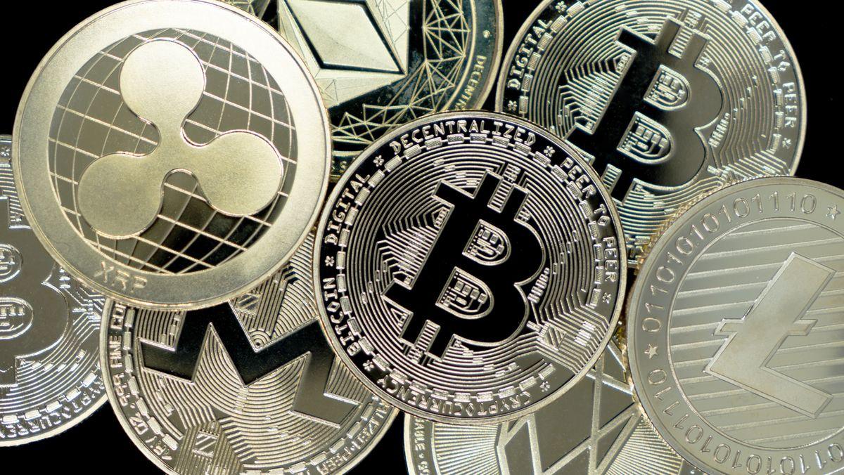 Verschiedene Krypto-Münzen