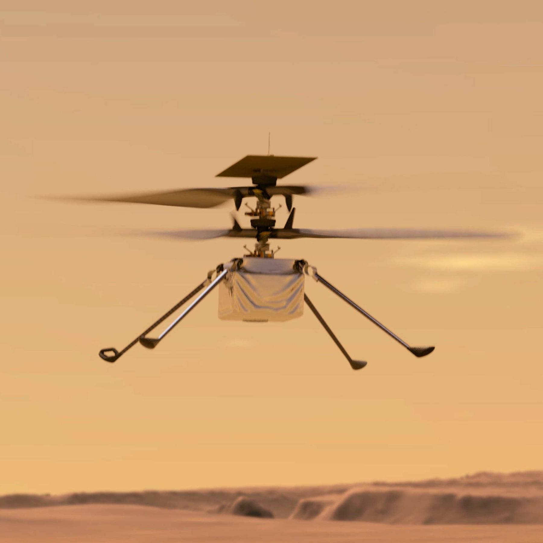 """Helikopter auf dem Mars - Warum der Jungfernflug von """"Ingenuity"""" spannend wird"""