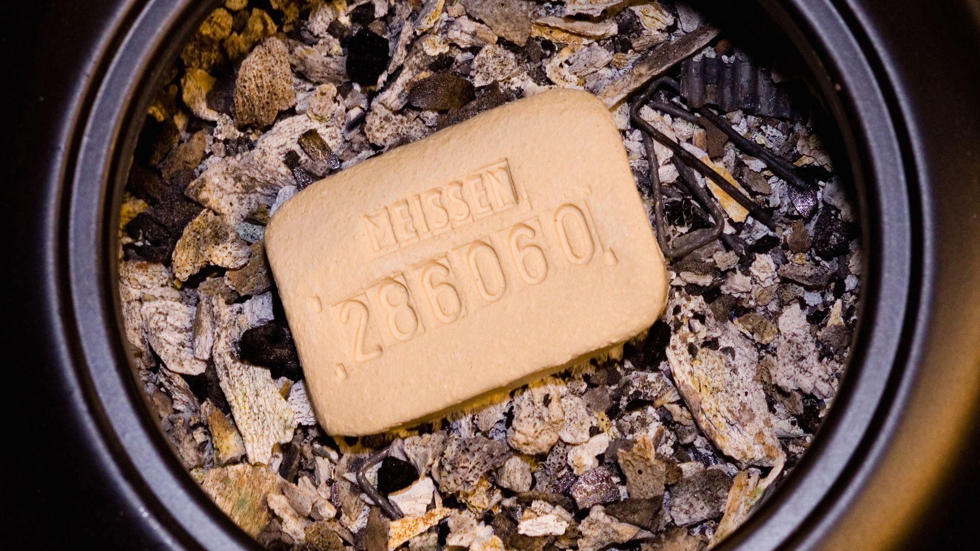 In der Asche des Verstorbenen können sich Metallreste befinden, hier zum Beispiel sieht man ein paar Nägel.
