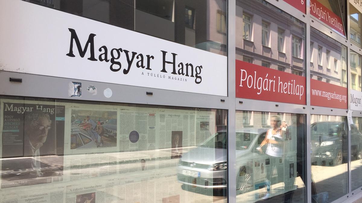 """Redaktionsraum der unabhängigen Wochenzeitung """"Magyar Hang"""" von außen"""