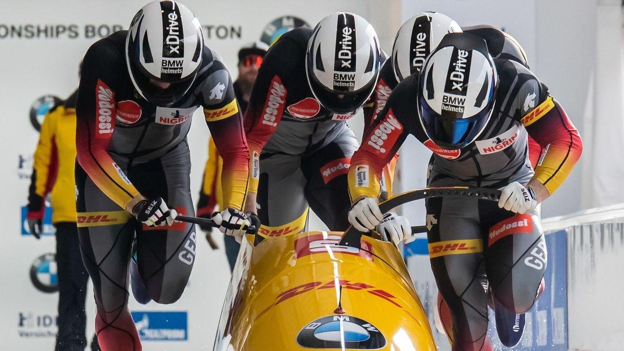 Das Team Francesco Friedrich bei der Bob-WM in Altenberg