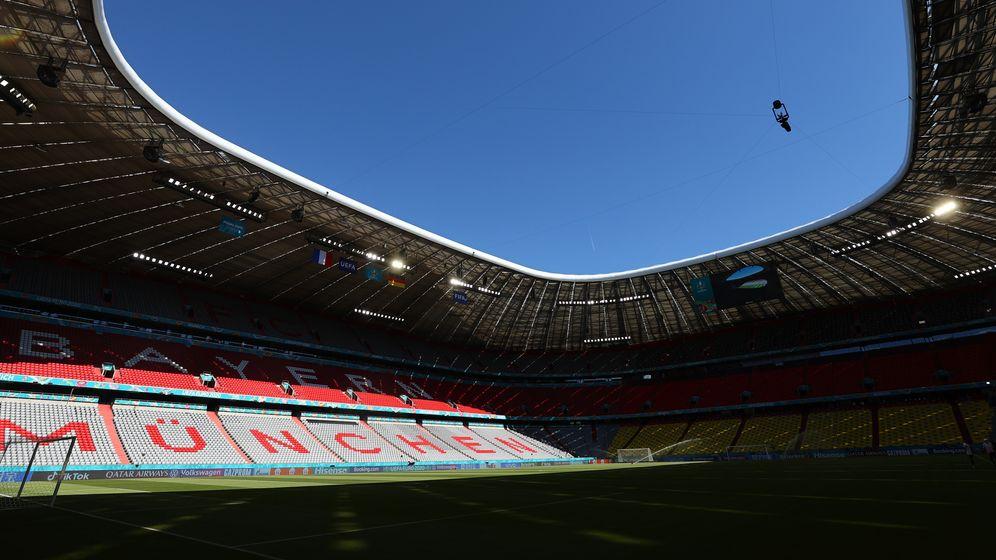 Das Stadion in München am Montag | Bild:REUTERS/Kai Pfaffenbach