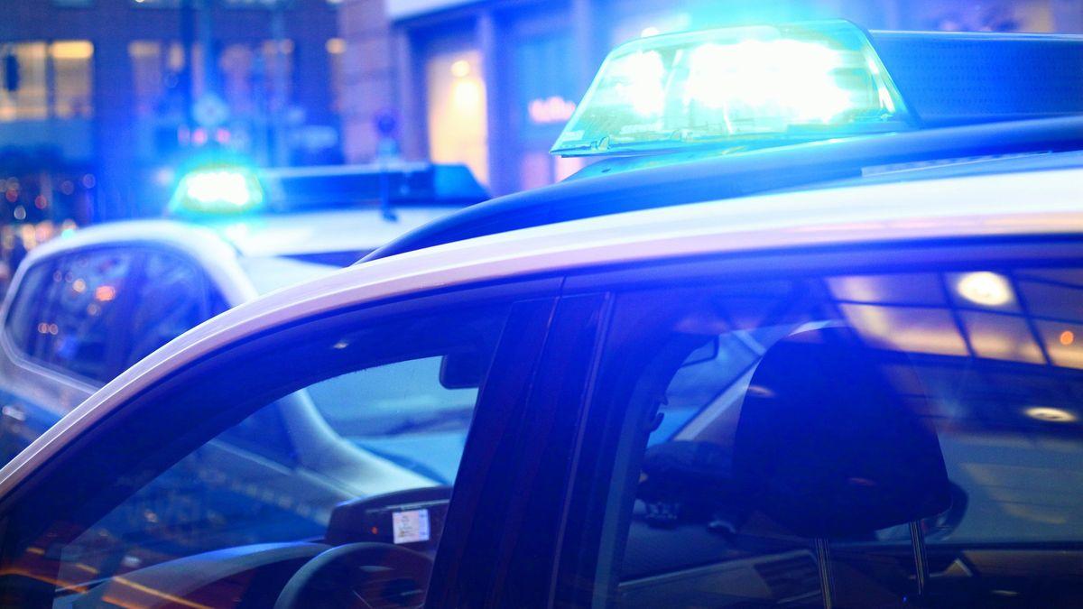 Polizeiautos mit Blaulicht (Symbolbild)
