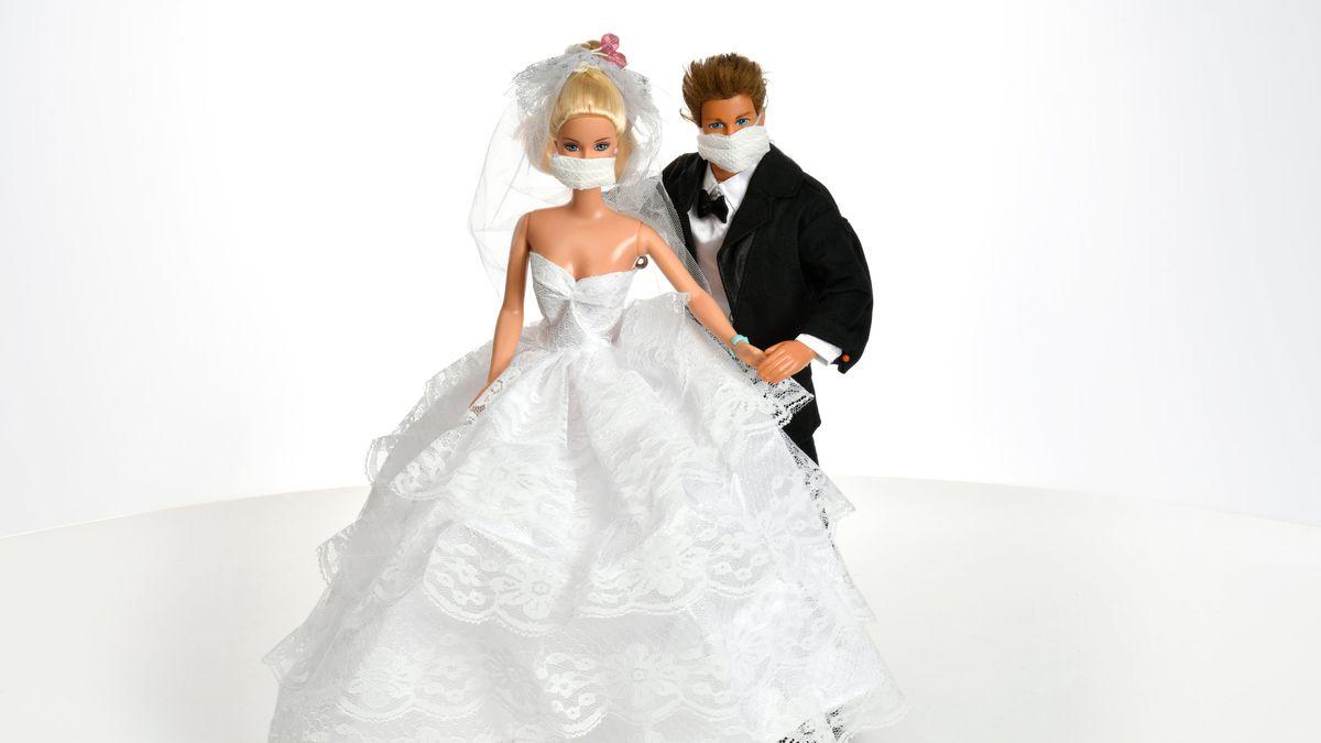 Barbie und Ken mit Maske