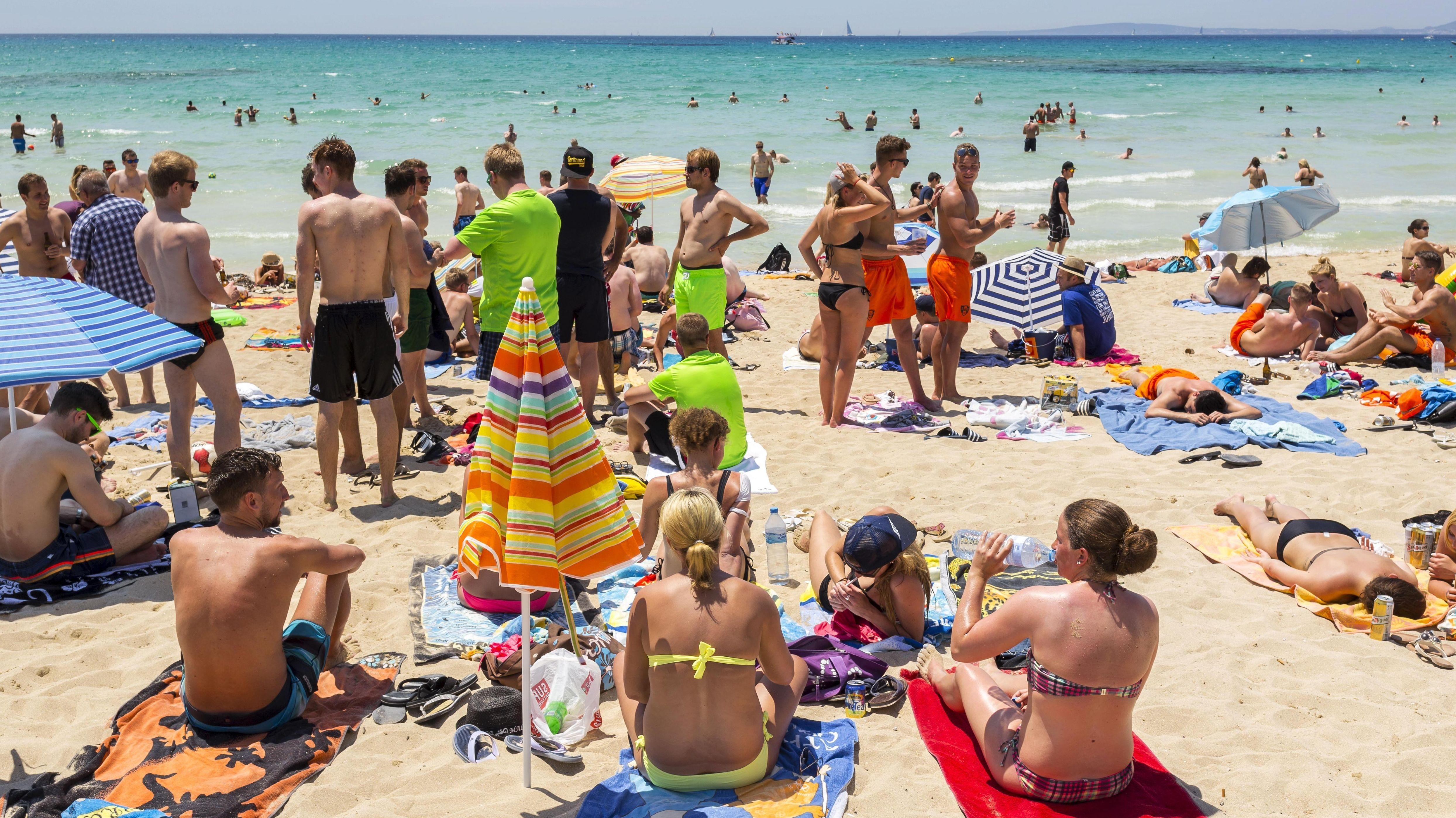 Ballermann-Strand auf Mallorca