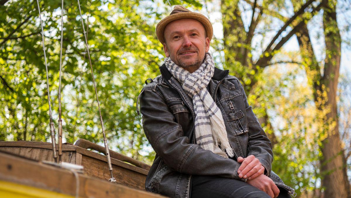Der Kläger Nils Kratzer auf der Münchner Praterinsel
