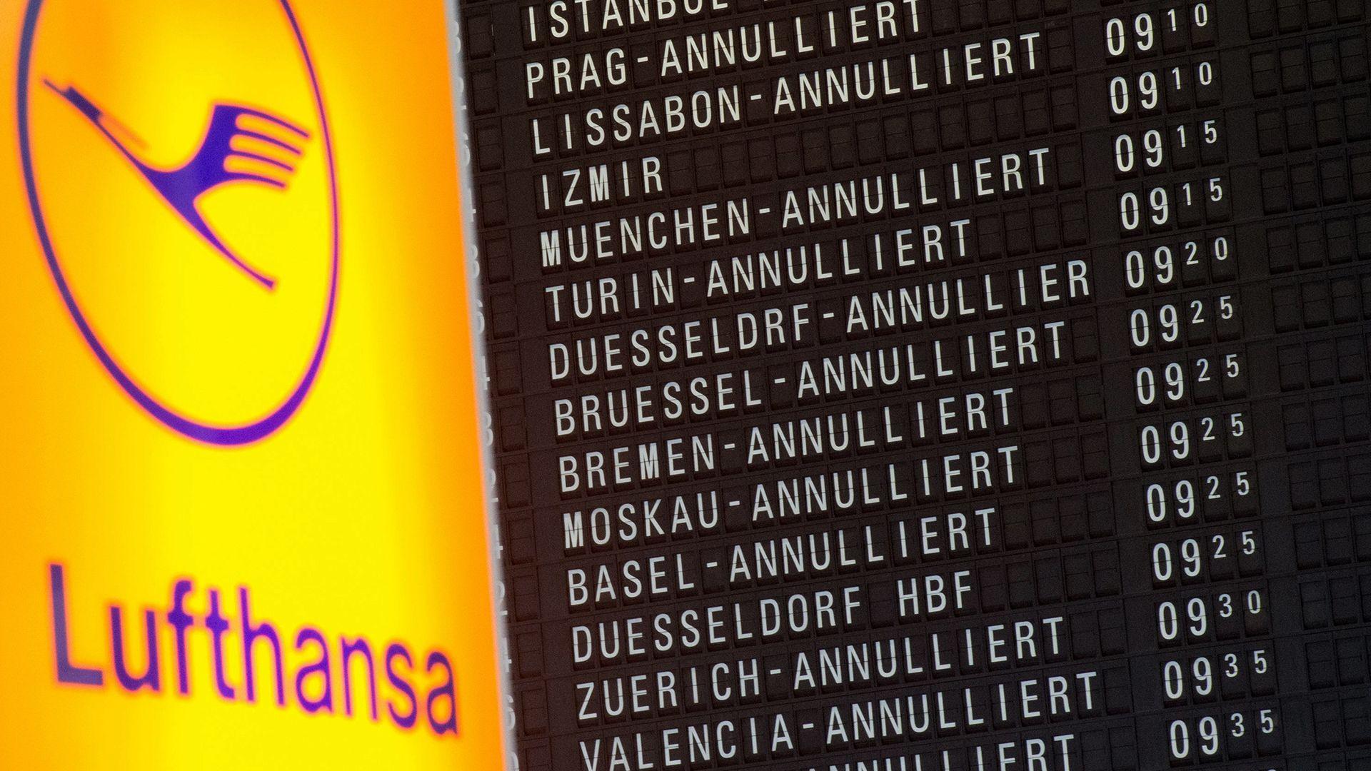 Streik bei der Lufthansa (Symbolbild)