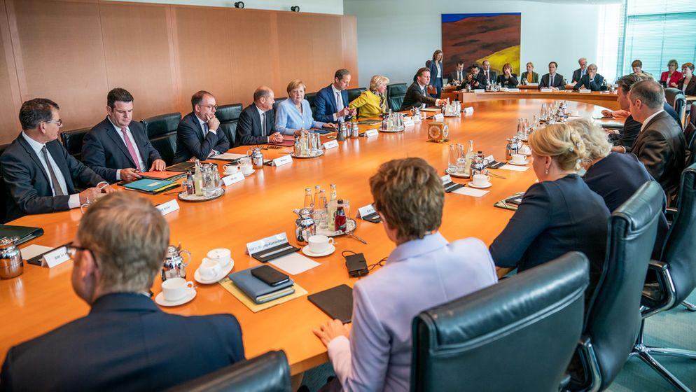 Das Bundeskabinett in der vergangenen Woche. | Bild:dpa-Bildfunk