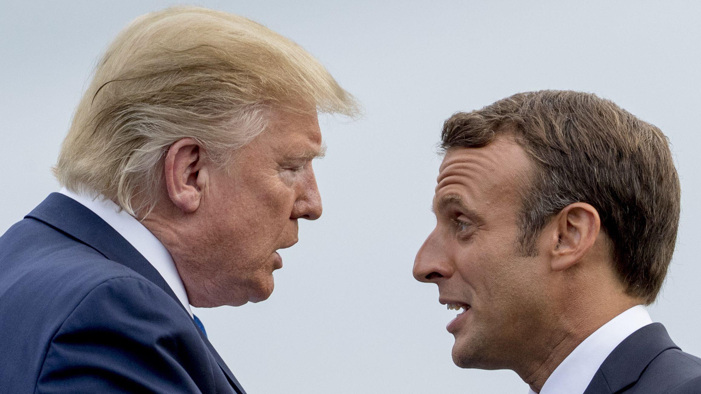 Trump und Macron beim G7-Gipfel