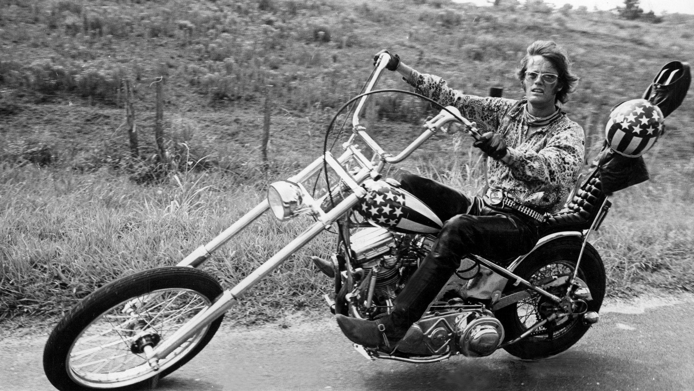 "Szene aus ""Easy Rider"" mit Peter Fonda"