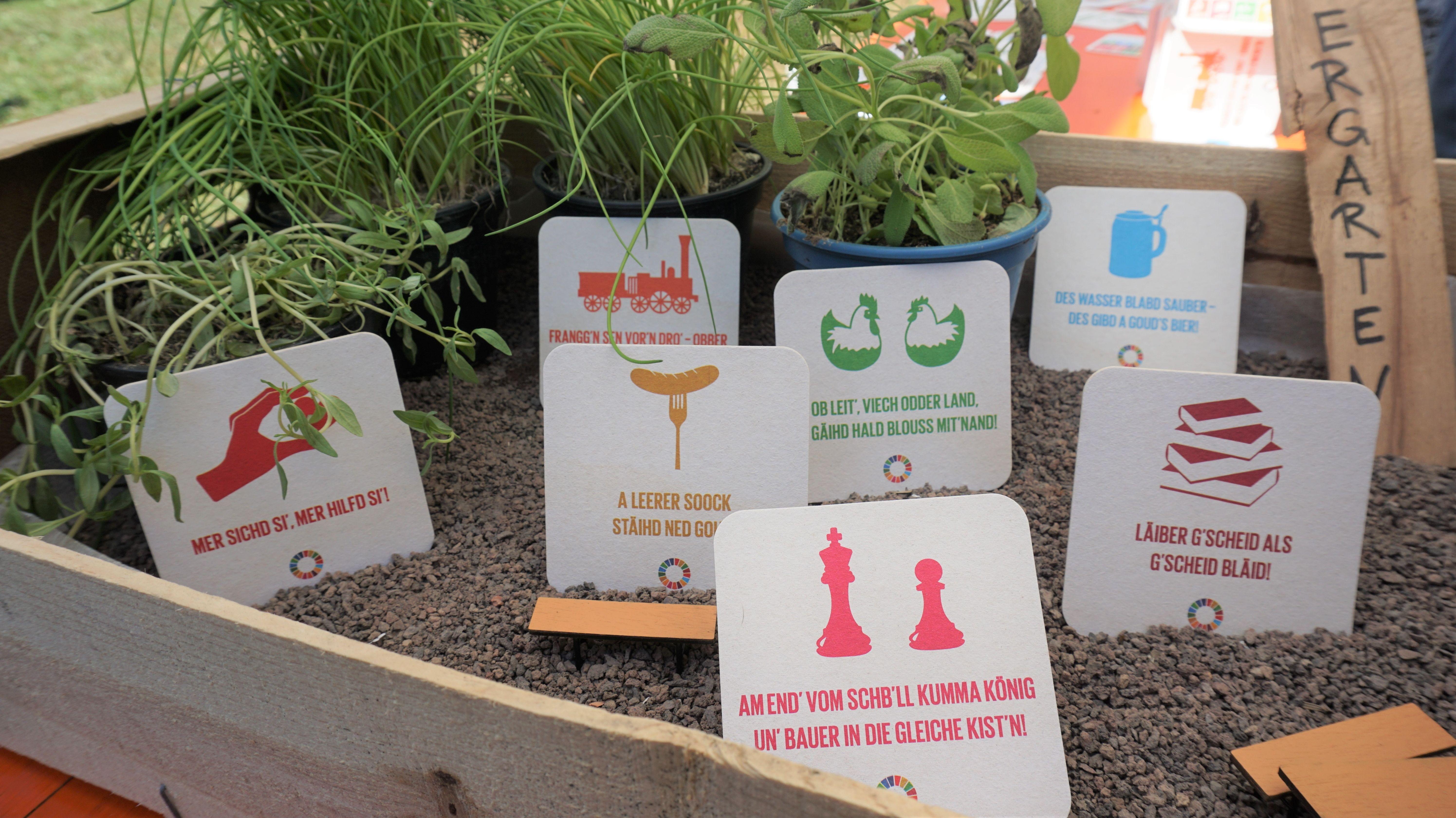Bierdeckel mit Nachhaltigkeits-Botschaft
