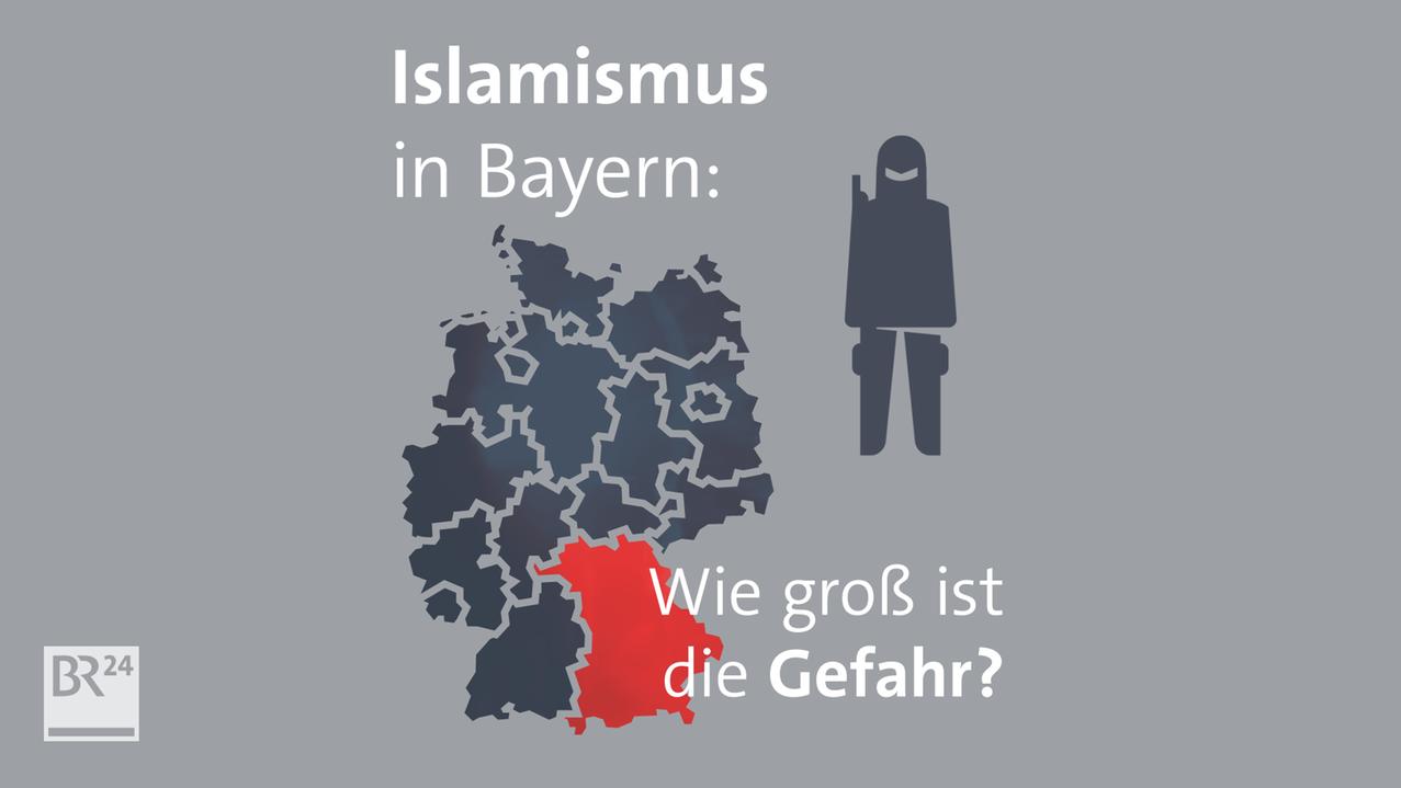 Piktogramm Islamist neben Deutschland-Karte