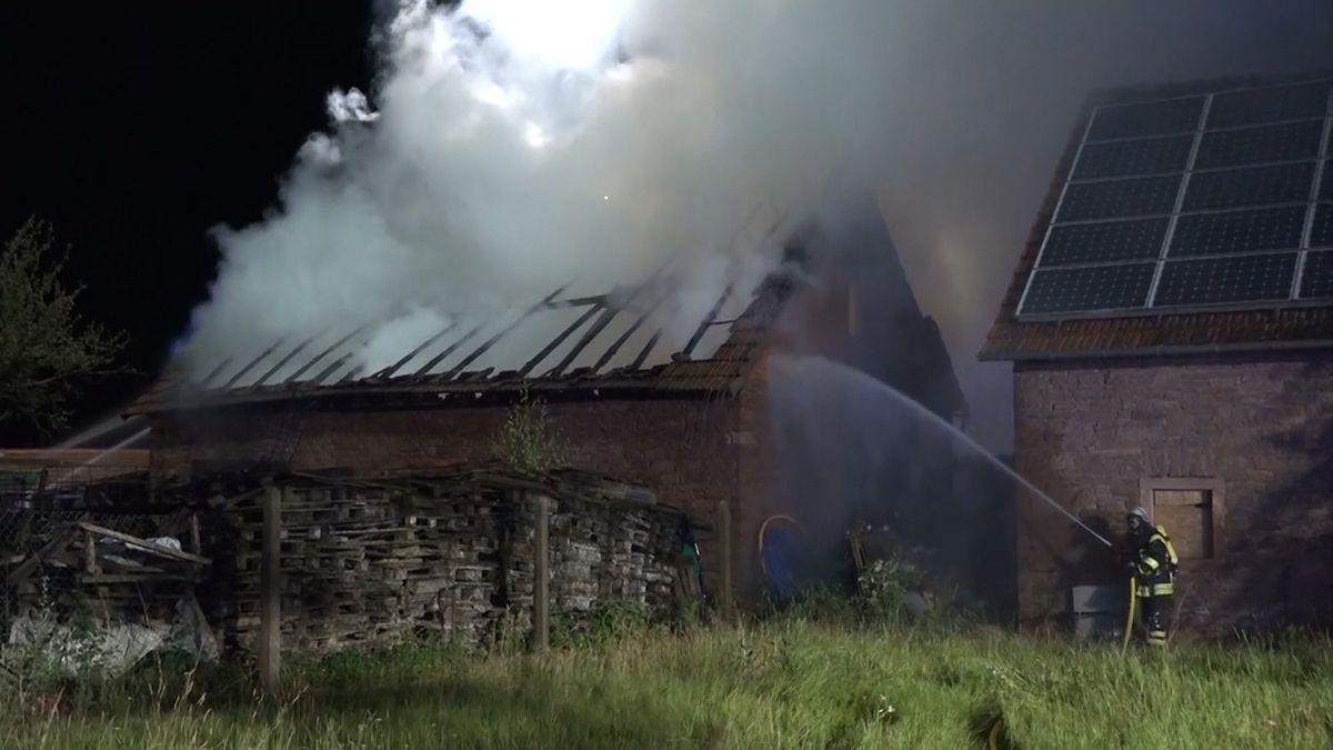 Scheunenbrand in Klingenberg