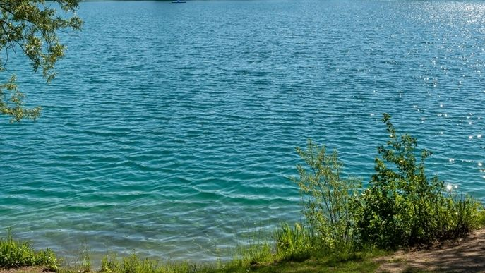Ein See im Grünen (Symbolbild)