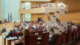 Blick in den Plenarsaal des Bayerischen Landtags   Bild:BR/Herbert Ebner