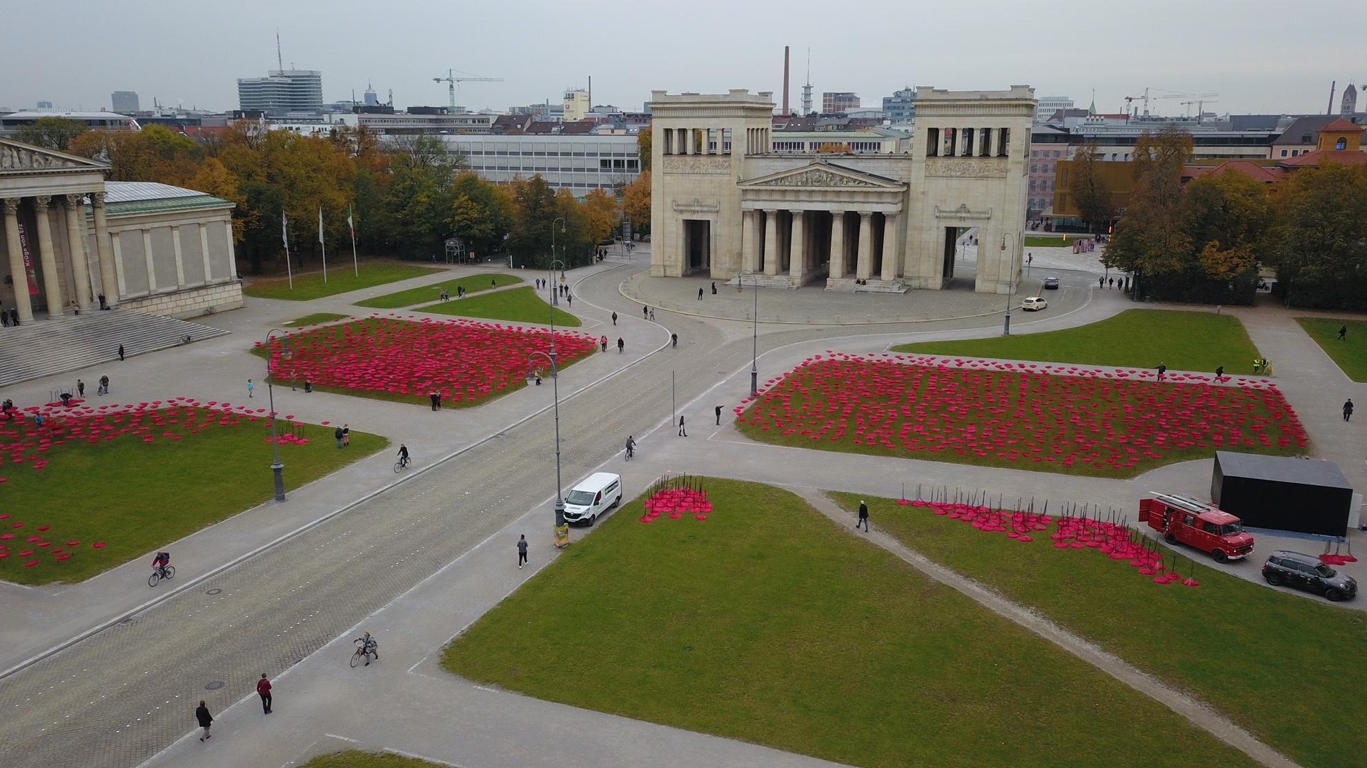 Aktionskunst auf dem Königsplatz