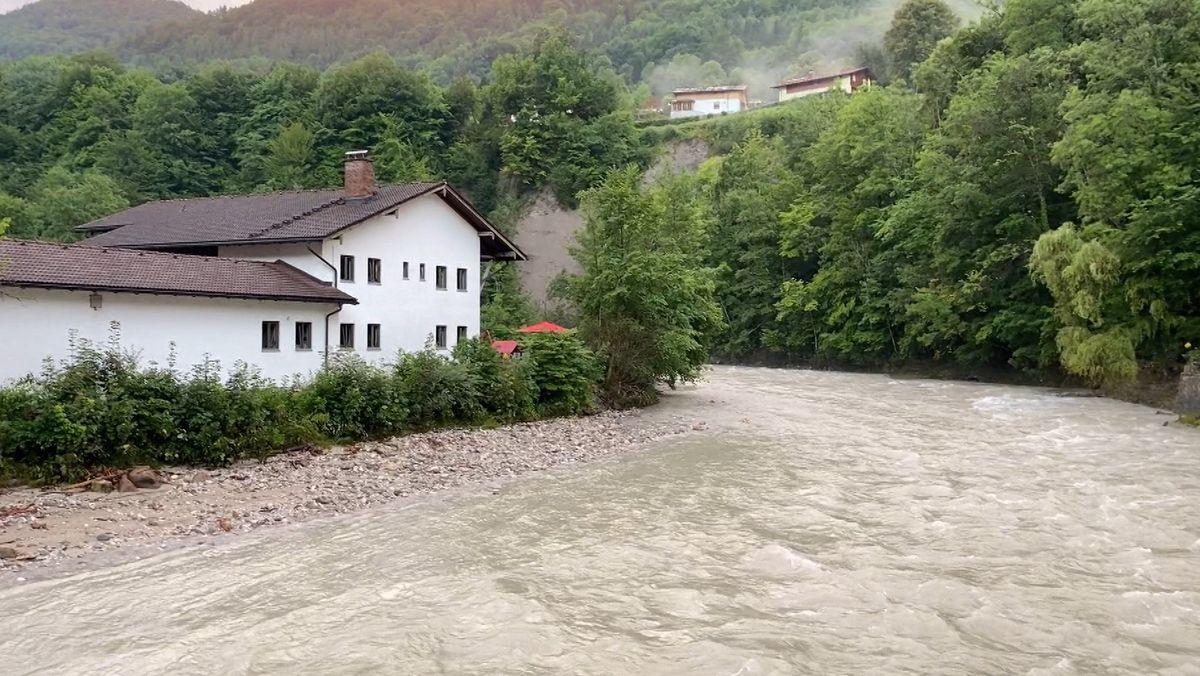 Hochwasser im Berchtesgadener Land